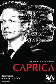 The prequel TV series, Caprica, revealed the first merging of human with machine in the 'Battlestar Gallactica' universe.