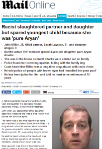 Racist slaughtered partner and daughter but spared youngest child because she was  pure Aryan    Mail Online